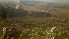 Pastoral hillsides in the Golan Heights in Israel. Stock Footage