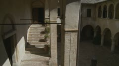Nunnery hotel court yard 3 angles Stock Footage