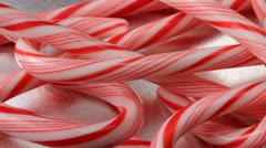 Candy canes Stock Footage