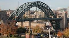 The Tyne Bridge, Newcastle, England Stock Footage