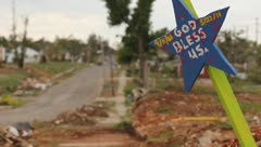 Tornado Aftermath Joplin, Missouri Stock Footage