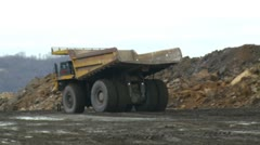 Large surface mining equipment Stock Footage