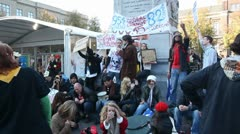 Occupy The Hague Stock Footage