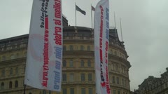 Socialist Banners Stock Footage