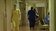 Stock Video Footage of The hospital corridor