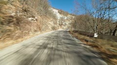 Driving on a winding mountain road  to Ai-Petri Stock Footage