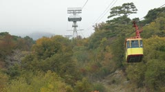 Mountain Cable Car Stock Footage