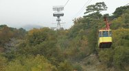 Stock Video Footage of Mountain Cable Car