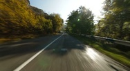 Stock Video Footage of Driving on  winding mountain road