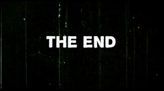 8mm film damage - The End - black - stock footage