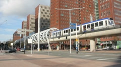 Modern Elevated Tram Stock Footage