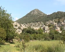 Old village ruins Stock Footage