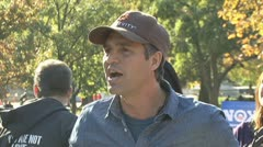 Actor Mark Ruffalo at Keystone XL pipeline protest Stock Footage