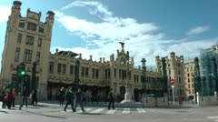 Railway Station of Valencia, Spain Stock Footage