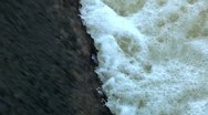 Stock Video Footage of Water flow on river dam 2