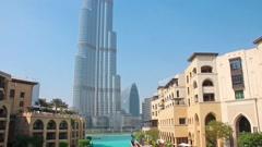Burj Khalifa - highest skyscraper in the world, Dubai, United Arab Emirates Stock Footage