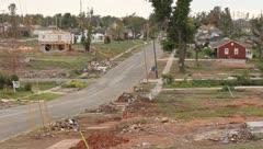 View of Street in Joplin, Missouri after Tornado - stock footage