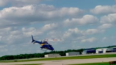 U of M medivac helicopter Stock Footage
