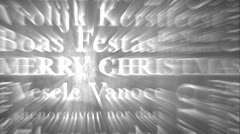 Merry Christmas Multilingual Design v3 06 Stock Footage