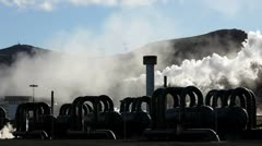 Geothermal Plant in Iceland, Europe Stock Footage