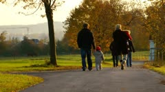 Family with kids Stock Footage