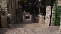 Zfat Ha Ari street P2 Stock Footage
