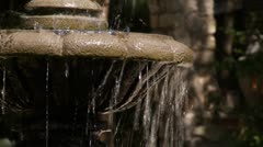 Beautiful Fountain with Closeup of Running Water Stock Footage