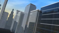 Business Buildings Stock Footage