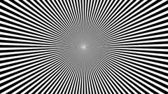 Black & White Psychedelic Spinning Loop 01 25 fps - stock footage