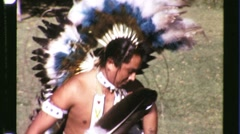 Native American Indian Pow Wow Dance Circa 1965 (Vintage Film Home Movie) 1228 Stock Footage