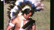 Stock Video Footage of Native American Indian Pow Wow Dance Circa 1965 (Vintage Film Home Movie) 1228
