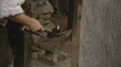 Blacksmith Sequence 1600's Sequence of 3 shots #2 Stock Footage
