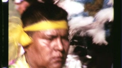 Native American Indian Pow Wow Dance Circa 1965 (Vintage Film Home Movie) 1229 Stock Footage