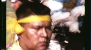 Stock Video Footage of Native American Indian Pow Wow Dance Circa 1965 (Vintage Film Home Movie) 1229