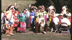 NATIVE AMERICAN INDIAN Pow Wow Dance 1965 (Vintage Documentary Film Movie) 1230 Stock Footage