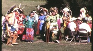 Stock Video Footage of NATIVE AMERICAN INDIAN Pow Wow Dance 1965 (Vintage Documentary Film Movie) 1230