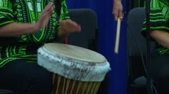 Women Drumming - stock footage