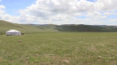 Mongolia: Lonley Ger Stock Footage