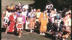 Amerikan intiaanikansojen Pow Wow Dance 1965 (vintage Documentary Film Movie) 12 Arkistovideo