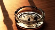 Cigarette and Ashtray 08 stub stylized Stock Footage