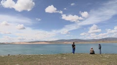 Mongolia: Visiting the Lake Stock Footage