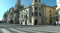 Valencia City Hall Stock Footage