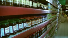 Store shelves Stock Footage