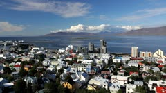 Reykjavik city, Iceland, Europe Stock Footage