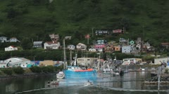 Beautiful Kodiak Island Harbor ED Stock Footage