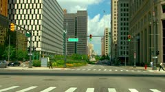 Driving through downtown Detroit Stock Footage