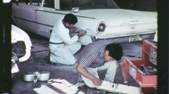 Native American Indian Auto Repair Circa 1965 (Vintage Film 16mm Footage) 1242 - stock footage