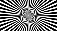 Black & White Psychedelic Spinning Loop 03 30 fps Stock Footage