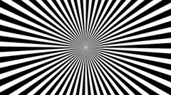 Black & White Psychedelic Spinning Loop 03 25 fps - stock footage