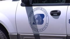 Operation Blessing relief services truck Stock Footage